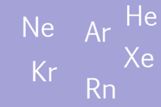 De grupo cero a gases nobles