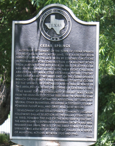 Town of Cedar Springs founded