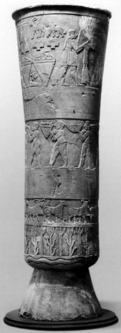 Name: Warka Vase Period: Ancient Mesopotamia c. 3000 B.C.E. - 400 C.E. Date: 3000 B.C.E.
