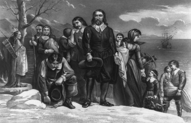 Pilgrims founded a Second English, Plymouth, in Massachusetts