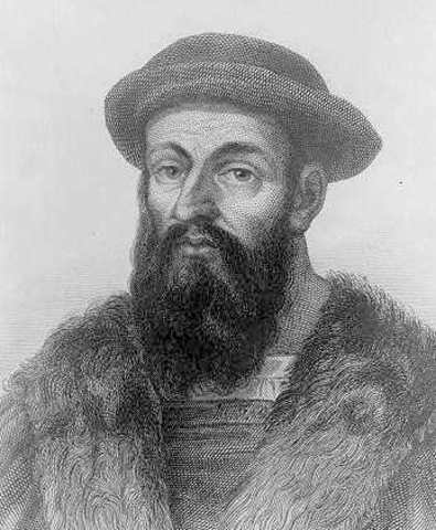 Magellan  begins his journey to circumnavigate the world with five ships and 270 men.