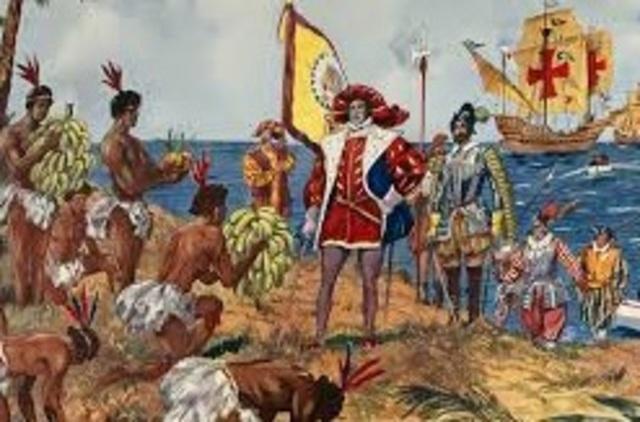 Columbus landet in America