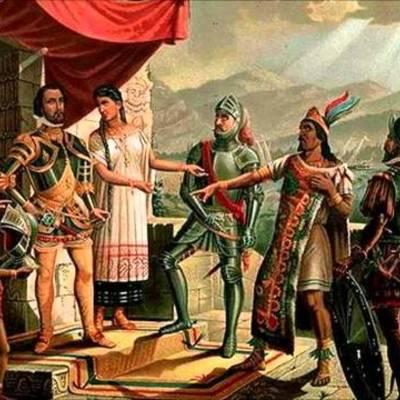 Ubicación temporal y espacial de los viajes de exploración de Cristóbal Colón en América y de la Conquista de México  timeline
