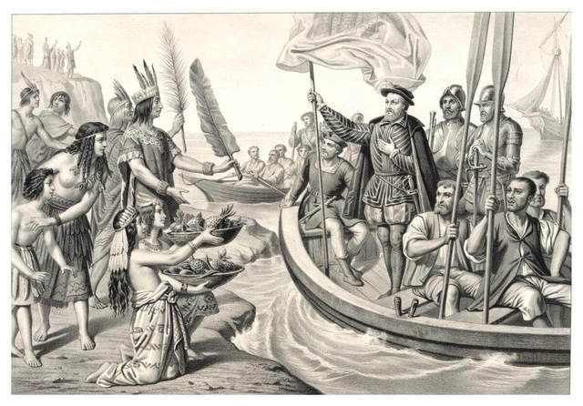 Hernán Cortés llega a Tenochtitlan