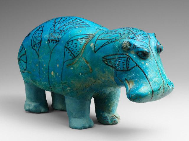 Name: Standing Hippopotamus. Period: Ancient Egypt. Date:1961–1878 B.C.E.