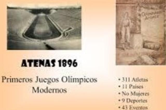 PRIMEROS JUEGOS MODERNOS EN ATENAS