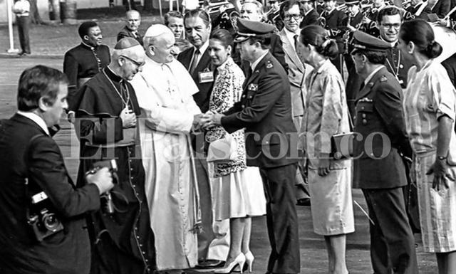 la visita del papa