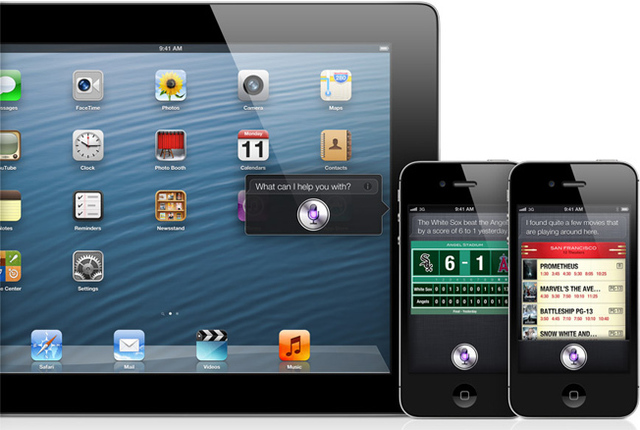 SIRI feature added to iPod touch and iPad, 2012