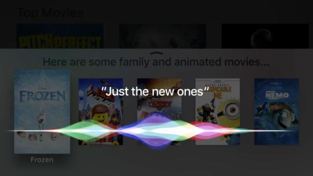 SIRI added to Apple TV, 2015