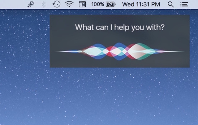 SIRI now features on all MAC computers, 2016