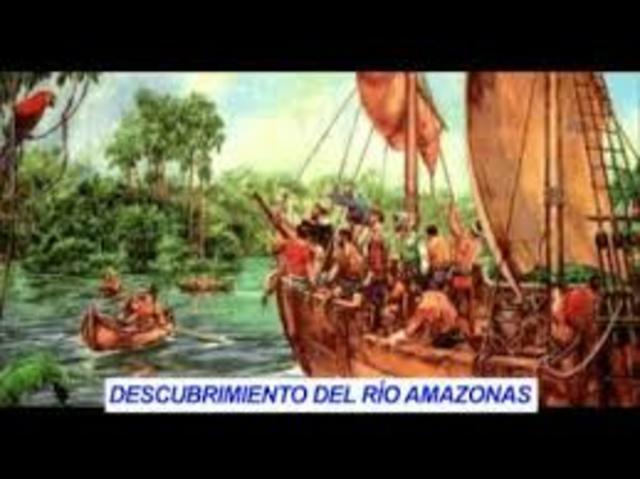 Descubrimiento del  rió de Colombia