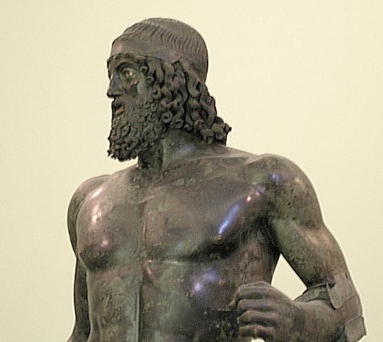 Name:Riace Warriors. Period: Ancient Greece. Date: c. 460-450 B.C.E.