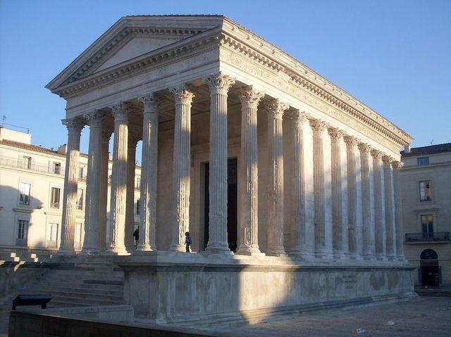 Name: Maison Carrée. Period: Ancient Rome. Date: c. 4-7 C.E.