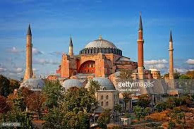 Name: Hagia Sophia. Period: Byzantine. Date:537 AD