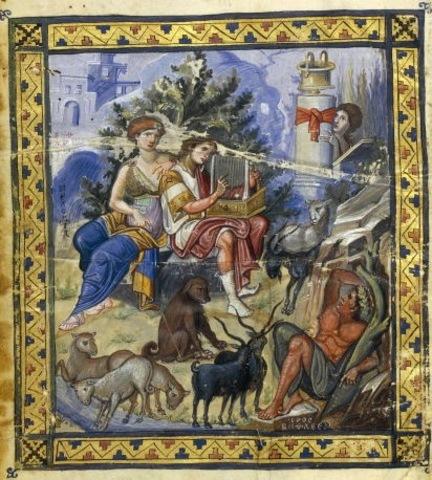 Name:The Paris Psalter. Period: Byzantine. Date: c. 900 C.E