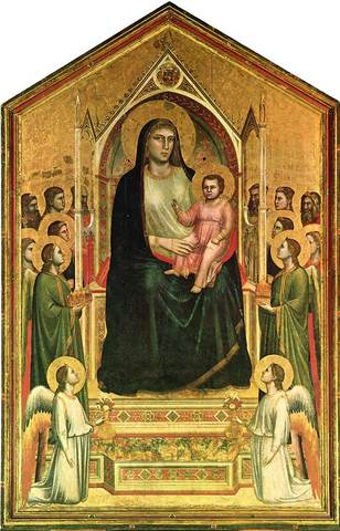 Name:Giotto di Bondone's VIRGIN AND CHILD ENTHRONED. Period: Gothic. Date:1306