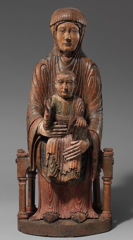 Name: Enthroned Virgin and Child. Period:Romanesque. Date:1150-1200