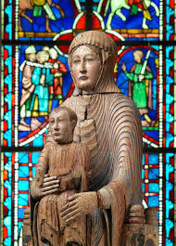 Name:Virgin and Child in Majesty. Period: Romanesque. Date:1175-1200
