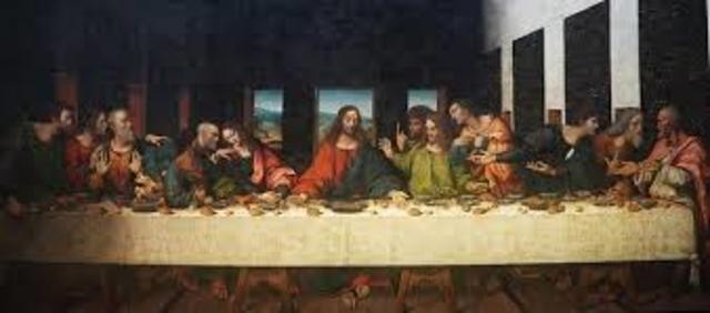 Name: Leonarda da Vinci's Last Supper. period:Renaissance. Artist: Leonarda da Vinci. Date: 1495–1498