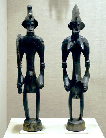 Name:Male and Female Poro Altar Figures (Ndeo). Period: African.  Date:19th–20th century