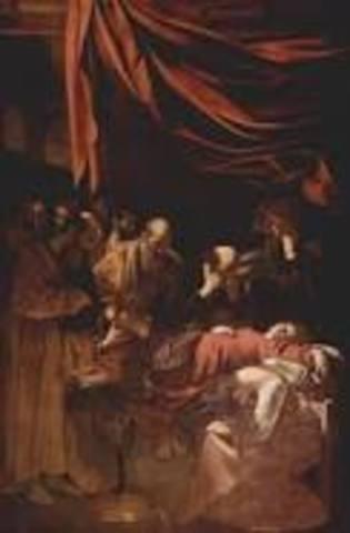 Name: Death of the Virgin. Period: Baroque. Artist:Caravaggio. Date:1606