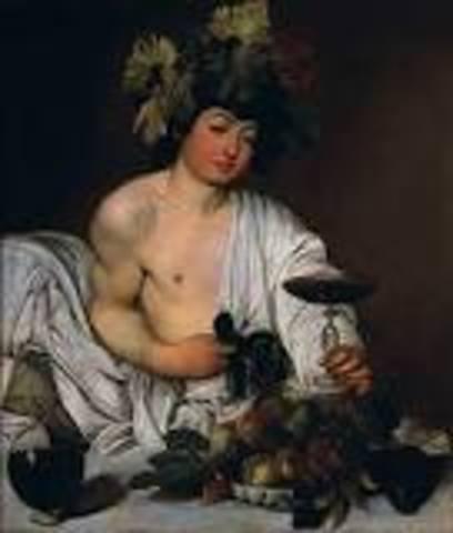 Name: Bacchus. Period: Baroque. Artist:Caravaggio. Date:1595