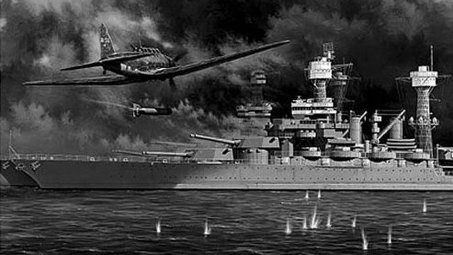 Japón bombardea la flota norteamericana