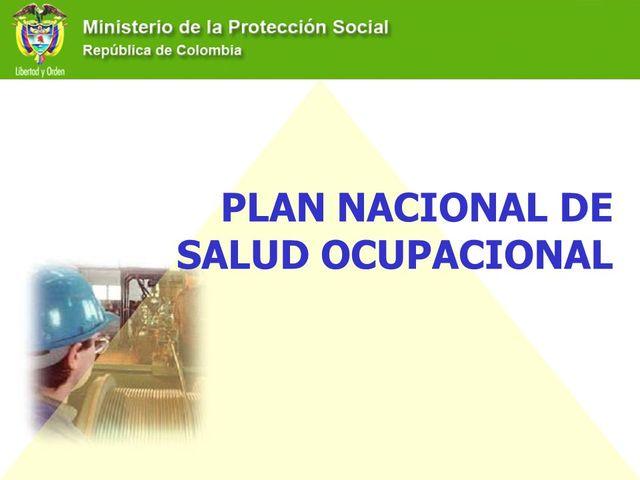 Plan Nacional de Salud Ocupacional
