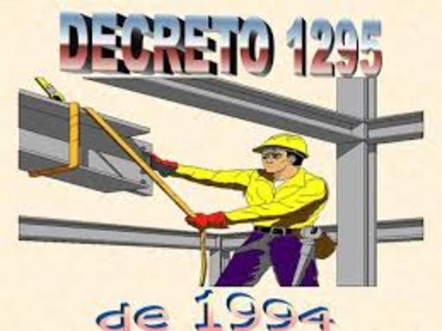 DECRETO 1295 DE 1994, (junio 22)