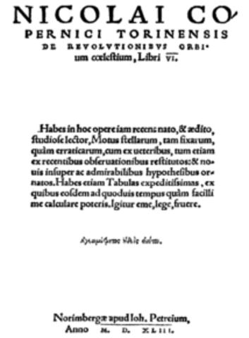 Über die Umschwünge der himmlischen Kreise (Kopernikus)