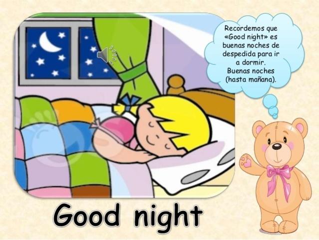"""Recordando cómo se escribe y se pronuncia """"Buenas Noches"""""""