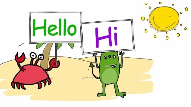 Al llegar puedo decir a todos los que están presentes ¡HELLO!