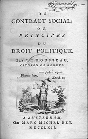 Jean-Jacques Rousseau published the Social Contract