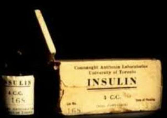 Se utiliza por primera vez la insulina para tratar la diabetes