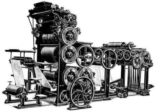Primera prensa mecánica