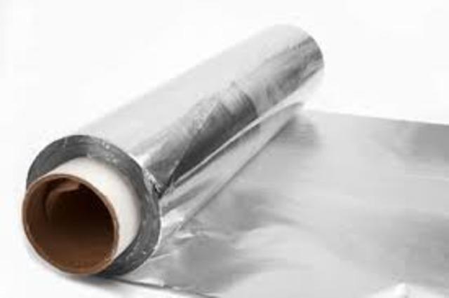 Foil de aluminio y papel para empaquetado