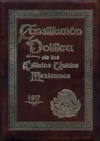 Constitución Política de los Estados Unidos Mexicanos de 1917.