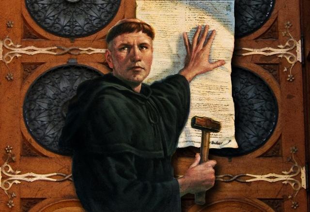 Resultado de imagen de Martín Lutero (1483-1546) proclamara sus 95 tesis