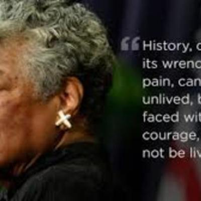 Maya Angelou Time timeline
