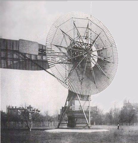 AÑO 1880. PRIMERA TURBINA EÓLICA PARA PRODUCIR ELECTRICIDAD.