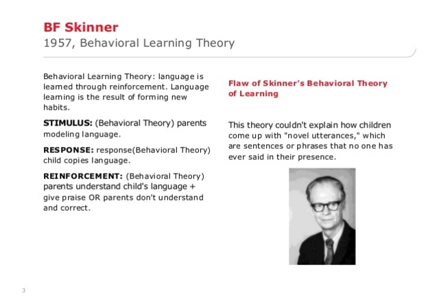 Skinner - Behaviorism & Operant Conditioning