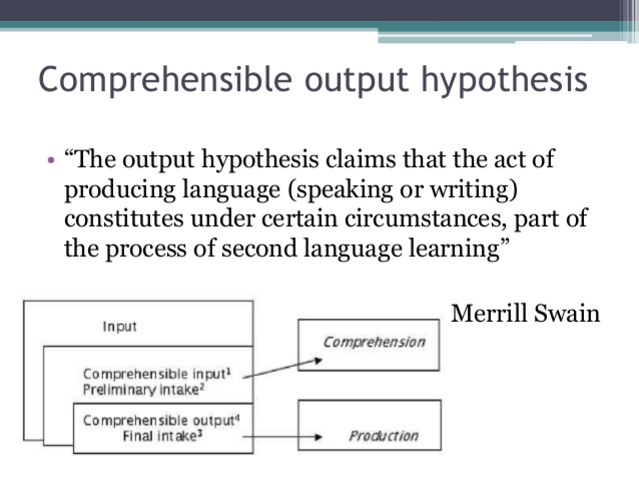 Swain - Output Hypothesis