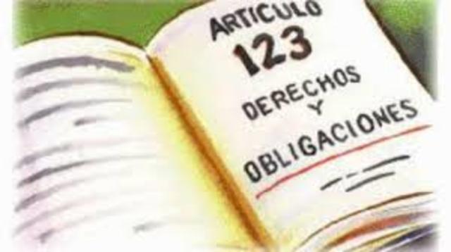 Nacimiento del articulo 123 en la Constitución de 1917