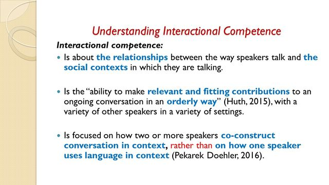 Hall - Interactional Competence