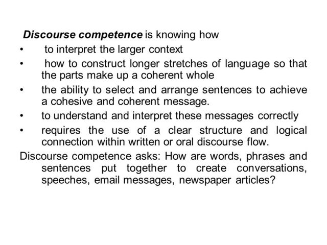 Alcon - Discourse Competence