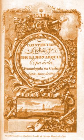 Constitución Española de Cádiz.