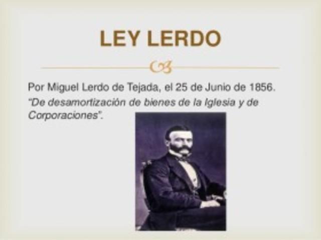 Ley Lerdo.