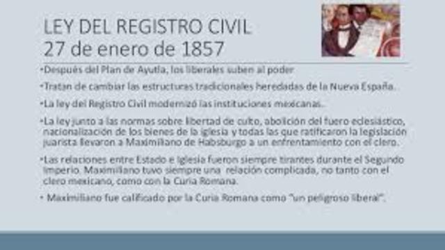 Ley Orgánica del Registro del Estado Civil.