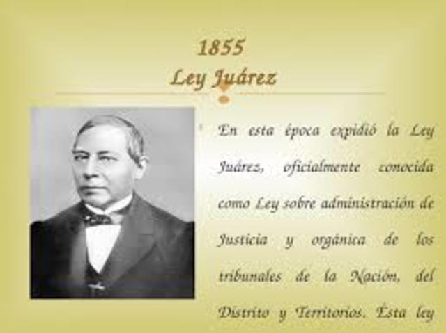 Ley Juárez.