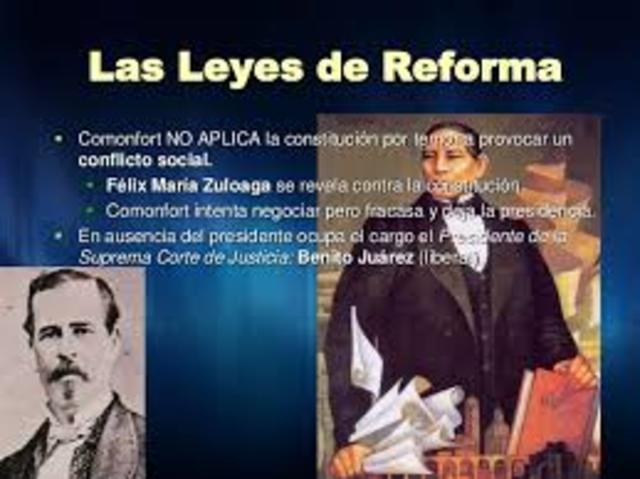 Leyes de reforma.